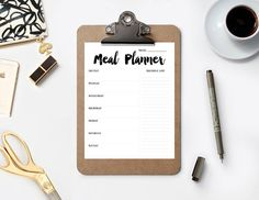 Printable modern Meal Planner to make meal planning easy and fun!  Files are available as an INSTANT DOWNLOAD. Theres no wait time. You will receive the download link as soon as you complete your purchase.  . . . . . . . . . . . . . . . . . . . . . . . . . . . . . . . . . . . . . . . . . . . . . . . . . . . . . . . . . . . . . . . . Y O U • W I L L • R E C E I V E  • 1 JPEG file (high resolution of 300 dpi for best printing results) • 1 PDF file (high resolution of 300 dpi for best printing…