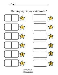 Domino Math Game for Numbers 0-5 - Kindergarten Kiddos - TeachersPayTeachers.com