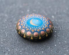 Mandala stone hand painted