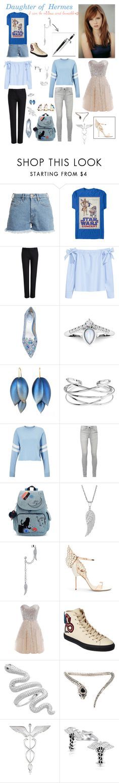 """""""Daughter of Hermès"""" by stephzph on Polyvore featuring M.i.h Jeans, Joseph, H&M, René Caovilla, Miss Selfridge, Kipling, Bling Jewelry, Sophia Webster, WithChic and Gucci"""