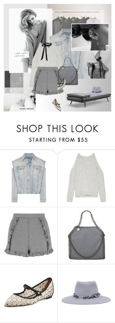 """""""Rosie Rosie"""" by rainie-minnie ❤ liked on Polyvore featuring Whiteley, MM6 Maison Margiela, Coleman, Elizabeth and James, Topshop, STELLA McCARTNEY, Tabitha Simmons and Maison Michel"""