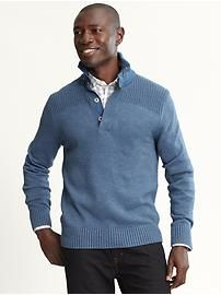 Banana Republic Pullover Sweater / Wonderful shade of blue and a great shoulder detail. Professional Dress For Men, Dress Down Friday, Blue Eyed Men, Casual Wear For Men, Dapper Men, Tie Shoes, Sharp Dressed Man, Suit And Tie, Blue Sweaters