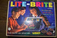 Vintage Toy, 1967 Lite Brite, Advertising, Home Decor, Original Box, Children's Toy, Light, Vintage Game, Kid's Game