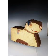 Art Deco Dog Footstool Hassock by Relaxon Wooden Wheel, Moleskine, Clever, Art Deco, Dogs, Leather, Animals, Design, Animales