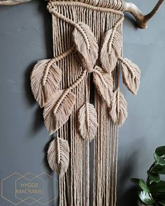 Best 11 Handmade Monstera Macrame Wall Hanging Made with cotton cord (sand colour) and driftwood (pine doweling optional, please ask when ordering) **Please note that each piece of driftwood will vary with natural shape** Custom sizes and colours a Macrame Cord, Macrame Knots, Yarn Wall Art, Boho Wall Hanging, Macrame Plant Hangers, Macrame Projects, Macrame Patterns, Yarn Crafts, Etsy Shop