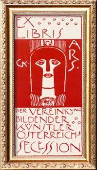 Ex Libris, Secession. Cover of Ver Sacrum, c.1902