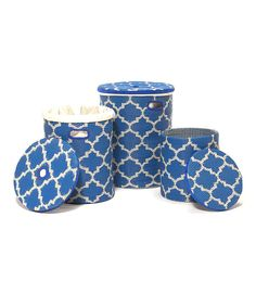 Take a look at this Regetta Blue & White Tangier Basket Set on zulily today!