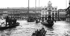 Gran aluvión sobre Venecia.  4 novembre 1966 a Venezia la marea ha raggiunto il livello di +194 cm alle 6 di sera . L'acqua ha cominciato a inondare Venezia nella tarda serata del 3 novembre e durò per 22 ore. Ciò ha causato un danno enorme sia a Venezia che sulle isole intorno. IV