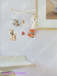 Baby Mobile Baby Crib Mobile Forest Friends Mobile von hingmade