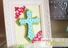 Framed Dimensional Easter Cross Tutorial | Positively Splendid {Crafts, Sewing, Recipes and Home Decor}