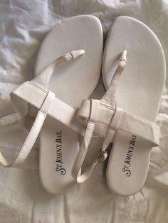e2f80e6fa95 St John s bay white sandals size 7  StJohnsBay  TStrap