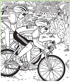 Hidden Pictures puzzle printables for teachers from Highlights. (Bike Race)