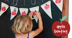 DIY Apple Bunting
