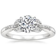 18K White Gold Amante Diamond Ring from Brilliant Earth