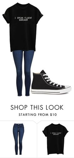 """Untitled #245"" by cruciangyul on Polyvore featuring Topshop and Converse"