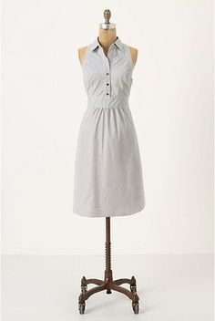 6bcd26cbf71d NWT ANTHROPOLOGIE Fountain of Youth Dress by Maeve Cotton Navy White Stripe  6