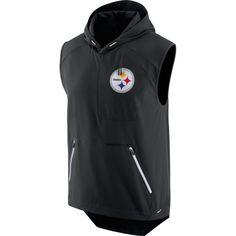 Nike Men s Pittsburgh Steelers Sideline 2017 Alpha Fly Rush Black Vest b4246799e