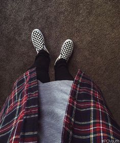 ons hm by exodusfashion - Slip Ons - Denim Streetwear Summer, Mode Streetwear, Streetwear Fashion, Streetwear Jeans, Vans Slip On Checkered, Checkered Vans Outfit, Flannel Outfits, Casual Outfits, Street Outfit