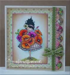 Paulabella's LULU LOVES POPPIES card.. new release at stampingbella