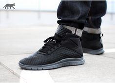 Nike Free - Hypervenom Mid (Black / Black - Dark Grey) - 155,00 €