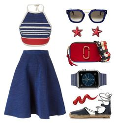 """Fourth of July"" by dominosfalldown ❤ liked on Polyvore featuring Vika Gazinskaya, Harmony Paris, Tory Burch, Givenchy, CÉLINE, Marc Jacobs and fourthofjuly"