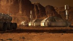 Steve Burg did part of the concept art for sci-fi blockbuster The Martian his main focus was the Mars Ascent Vehicle (MAV). Cyberpunk, Mars Project, Kerbal Space Program, No Man's Sky, Dwight Eisenhower, Space Exploration, The Martian, Sci Fi Art, Interstellar