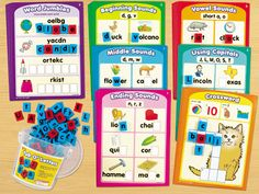 Tub O' Letters & Practice Cards  I think Michael would like this for school next yr