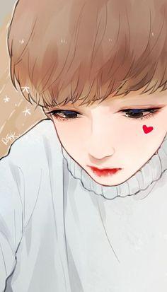 Photo Jungkook Fanart, Vkook Fanart, Jikook, Bts Art, V Chibi, K Pop, Amazing Drawings, Bts Drawings, Manga Illustration