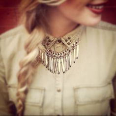 Chloe and Isabel fringe necklace http://samantharivera.chloeandisabel.com