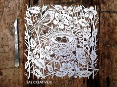 Samantha's Papercuts: New Beginnings Papercut