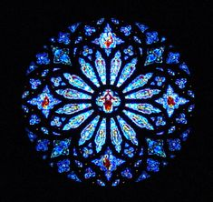 Blue rose-window - some version of this found in so many cathedrals... Love all of them....