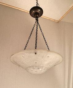 ART DECO pendant chandelier unique geometric design by GDLGArtDeco