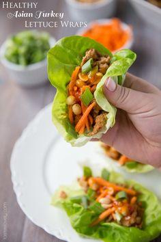 Healthy Asian Turkey Lettuce Wraps