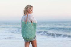 HandWoven Straw Bag, Mint Straw Bag, Cute Straw Aqua Bag, Straw Handbag for Summer