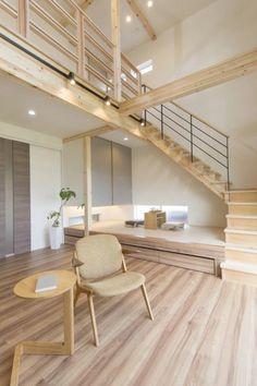 リビング Home Room Design, Loft Design, Dream Home Design, Home Interior Design, Interior Architecture, House Design, Modern Bungalow House, Concept Home, Japanese Interior