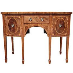 Pale Colour Mahogany Antique Sideboard, 18th Century