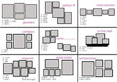 photo frame arrangements