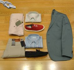Americana Algodon Dielmar, Pantalones Rosas de CANALI, Vaquero Algodon de TRUSSARDI, Camisas rayas ROBERT FRIEDMAN, Zapatos LEYVA