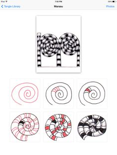 How to draw the tangle pattern Marasu