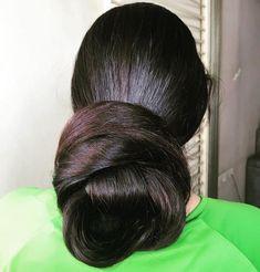 Girls With Beautiful Hair❤️ ( Bun Hairstyles For Long Hair, Braids For Long Hair, Pretty Hairstyles, Beautiful Long Hair, Gorgeous Hair, Amazing Hair, Beautiful Women, Lavender Hair Colors, Indian Long Hair Braid