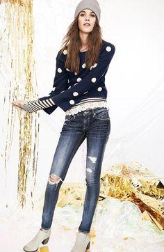 Elodie Dot Sweater (Juniors) | Nordstrom