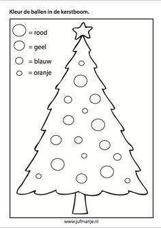 Kerstboom kleuropdracht thema kerstmis