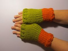 Green and Orange or Pick Your Colors Hand Knit by UpNorthKnits, $28.00