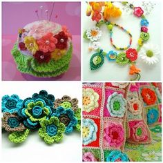 Colorful inspirations for crochet projects.