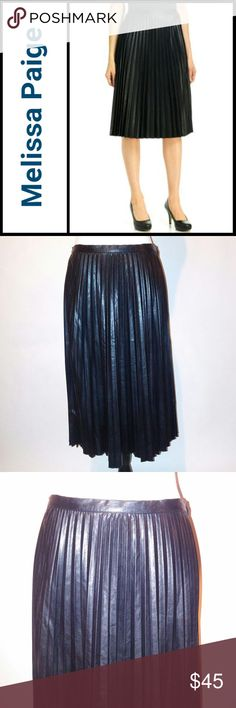 Melissa Paige Skirt Melissa Paige Skirt Pleather Pleated Skirt Black Size 4 New with tags Melissa Paige Skirts