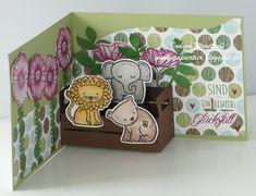 Pop Up Card   Tierische Glückwünsche   Stampin up   papiertier Indina   DIY   A Little Wild