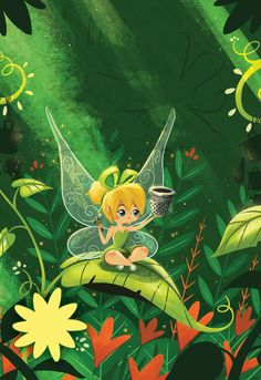 Tinker Bell's Fairytastic Reading Adventure - Illustration by Cale Atkinson –Please, don't remove credit–