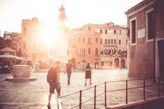 Free Image: Venice Piazzale Square Sunset   Download more on picjumbo.com!
