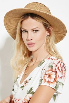Straw Boater Hat   Forever 21 Canada
