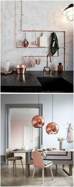 Decorar con brillos, cobre. www.momocca.com